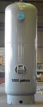 1000 gallon compressed air tank